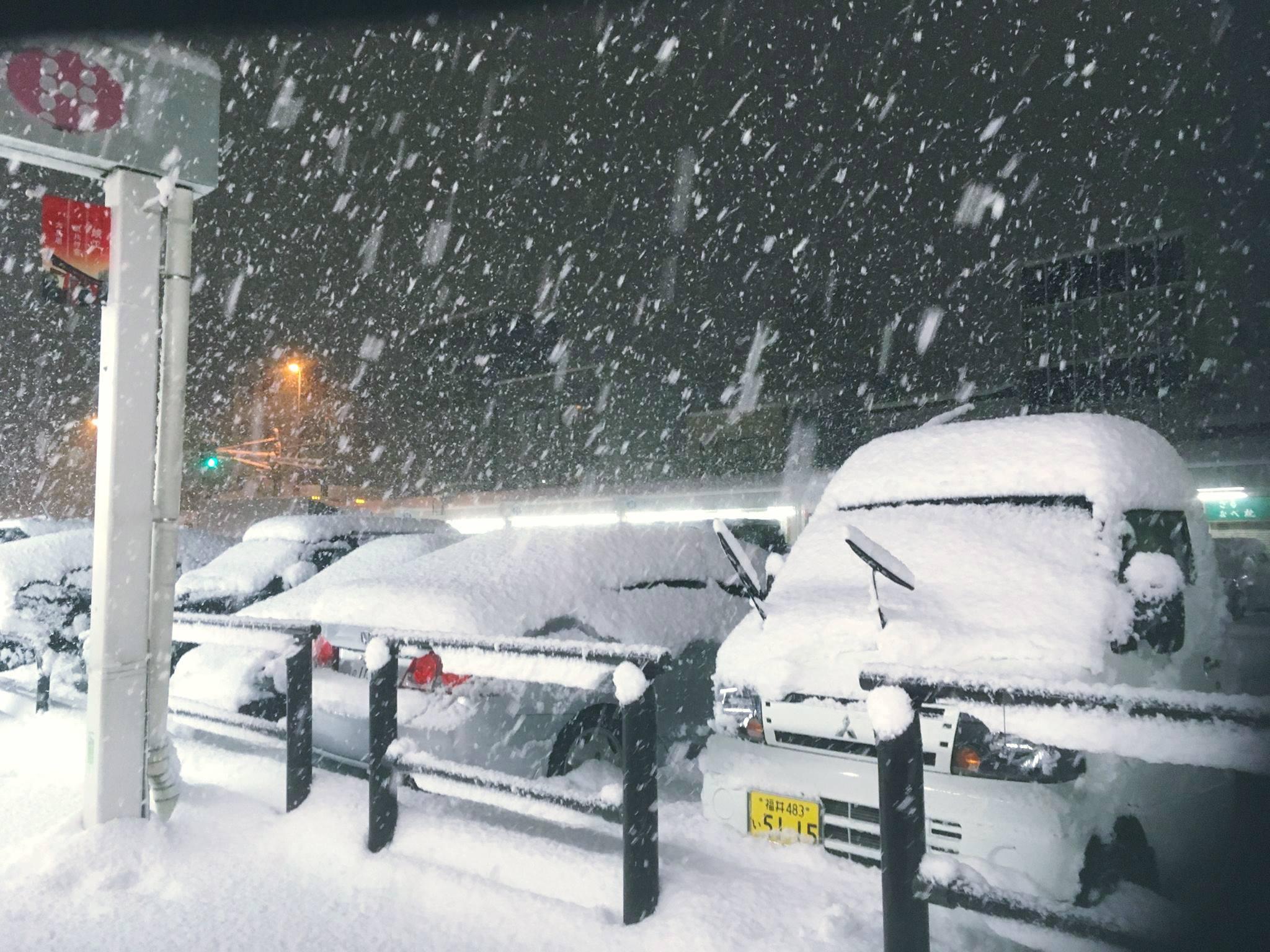 豪雪の福井県敦賀市へ